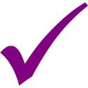 Purple checkmark